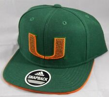 Miami Hurricanes Adidas Ball Cap Snapback Hat NCAA Raised Embroidered