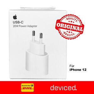 Original Apple iPhone 12 Pro Max Ladegerät Netzteil 20W USB-C Power Adapter