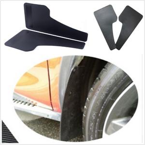 2PCS Universal Racing Car Mudflaps Front or Rear Wheel Moulding Fender Mudguard
