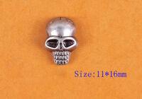 30pcs Biker Skull Head Leather Rivets Conchos for Bag Belt Clothing Leathercraft