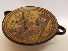 Athena Greek Goddess Rare Hellenic Ancient Art Pottery Tray Aged Kylix