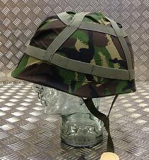 Original British Army Camuflaje woodland DPM Casco Funda tamaño ajustable -