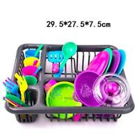 28pc Kids Cutlery Role Play Toy Set  Kitchen Utensil Accessories Pots Pans