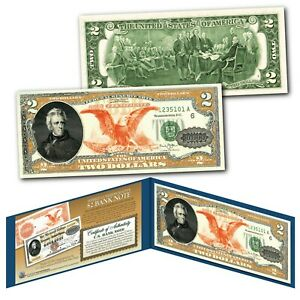 1882 Series Andrew Jackson $10,000 Gold Certificate designed on a Modern $2 Bill