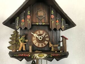 orologio a cucù Vintage Schwarz Wald Made