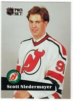 1991-92 Pro Set Scott Niedermayer #CC4 First Round Pick  Rookie card