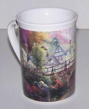 "Thomas Kinkade ""HOMETOWN BRIDGE"" Cottage Horse Collectible Coffee Tea Mug NEW"