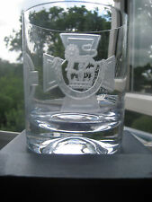 MASONIC 10oz WHISKY TUMBLER WHEEL ENGRAVED WITH VC & MILLION MEMORIAL JEWEL