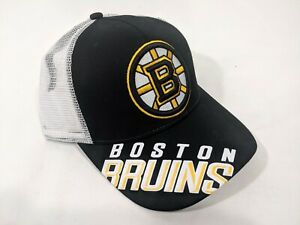 LZ Reebok Adult One Size Boston Bruins NHL Snap Back Trucker Hat Cap NEW NWT