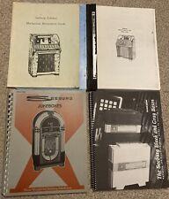 New listing Those Wonderful Seeburg Jukeboxes Book Lot 1927-1989 Frank Adams Repair Manuals