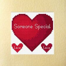 "Love Heart Someone Special/Boyfriend/Girlfriend Cross Stitch Card Kit 5.5""x5.5"""