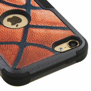 iPod Touch 5th 6th 7th Gen - HARD&SOFT RUBBER HIGH IMPACT HYBRID CASE BASKETBALL
