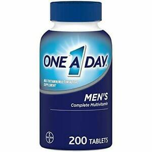 One A Day Men's Multivitamin, with Vitamin A, C, D, E, Zinc, 200 Tablets
