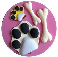 Paw Prints & Dog Bones Silicone Mold for Fondant, Gum Paste, Chocolate, Crafts