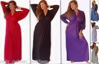 dress maxi empire L XL 1X 2X 3X 4X 5X 6X open back long sleeve stretch jersey