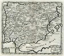 "1711 Genuine Antique map Spain & Portugal. ""Hispania & Portugallia"" R. Morden"