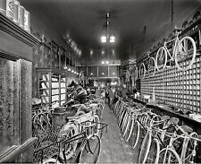 "1912 Bicycle Shop Photo, DETROIT, Bike Store, 14""x11"" Print, cycle"