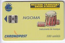 AFRIQUE TELECARTE / PHONECARD .. ILES COMORES 100U CHRONOPOST 8N°B/G B/G PUCE