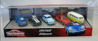 Majorette Model Car metal DieCast Vintage Giftpack with 5 cars VW Ford Porsche .