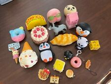 Large Lot of Squishy Toys Assorted food & Animals