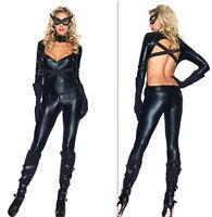 Deluxe Ladies Catwoman Batman Dark Knight Rises Halloween Fancy Dress Costume