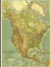 National Geographic Maps - 1924 - North America