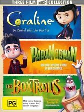The Boxtrolls / Coraline / Paranorman (DVD, 2018, 3-Disc Set)