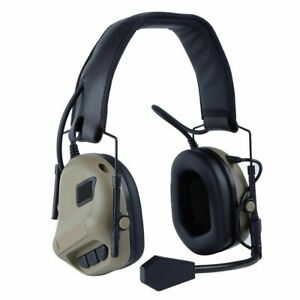 Tactical Headseat Noise Reduction Protection Safety Shooting Earmuff With PTT