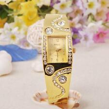 New Womens Fashion Bracelet Bangle Watches Wave Rhinestone Crystal Wrist Watch