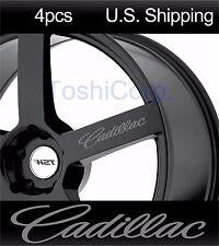 4 CADILLAC sticker decals Door handle Wheels mirror rims CTS sport Racing SILVER