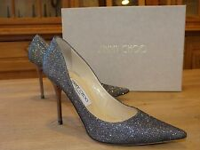 ESCARPINS GRIS ANTHRACITE JIMMY CHOO Taille I 37 F 38 UK 5 US 6,5 § BOITE TTBE