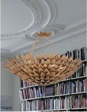 Horchow Currey & Co Oleander Replica Gold Leaf Large Eclectic Chandelier $1496