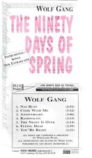 CD--WOLF GANG --THE NINETY DAYS OF SPRING