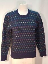 Shetlander Crazy Horse Women's 100% Wool Fair Isle Sweater Size S/M EUC