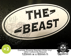 THE BEAST Landrover Car stickers x2 JEEP one life DEFENDER 4x4 off road COLOURS