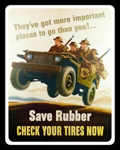 SAVE RUBBER CHECK YOUR TIRES (TYRES) GARAGE WORKSHOP METAL SIGN TIN PLAQUE 701