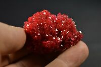 Alunite red crystal on matrix like rhodohrosite, spinel, garnet