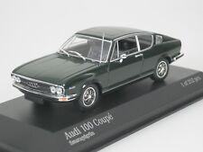 Audi 100 Coupé 1969 verde oscuro coche modelo 1 43 / Minichamps