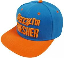 True Spin truespin sorry I 'm Fresher Turquoise Orange Snapback Caps señores Mens
