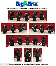 LEGO Star Wars SQUAD FIVE SHADOW Troopers Minifigure with Custom Weapons
