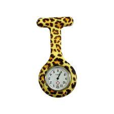 Verpleegkundigen Fashion gekleurd patroon Silicon Rubber Fob horloges - Leopard