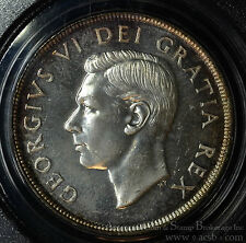 Canada $1 Dollar 1951 MS64 PCGS silver KM#46 3 Waterlines Short SWL George VI