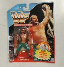 "Hasbro WWF Jake ""the Snake"" Roberts Spanish Wrestling Figure, Blue Card 1990"