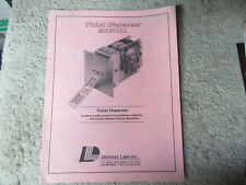DELTRONICS TICKET DISPENSER  original arcade game owners manual