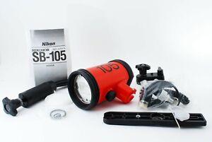 Exc+++++ Nikon SB-105 Speedlight For Nikonos V Flash Synk Cord etc From JAPAN