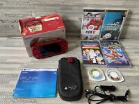 Sony PSP 3003 Radiant Red Console + Games Bundle. Boxed PAL