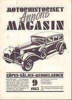 Motorhistoriskt Magasin Annons Swedish Car Magazine 89 1985 Ford YB 032717nonDBE