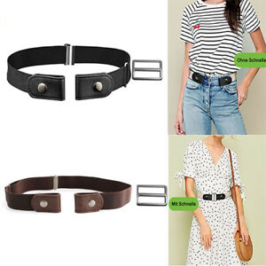 Unisex Invisible Elastic Waist Belt Buckle-free Hassle Comfortable Trousers Belt