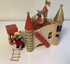 Spielpalast Spiel Schloss aus Holz  ca 33 x 25 x 28 cm Holzspielzeug L3/7