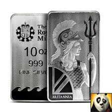 2018 10 oz Silver Bar - Royal Mint Britannia - .999 Fine Mint Condition